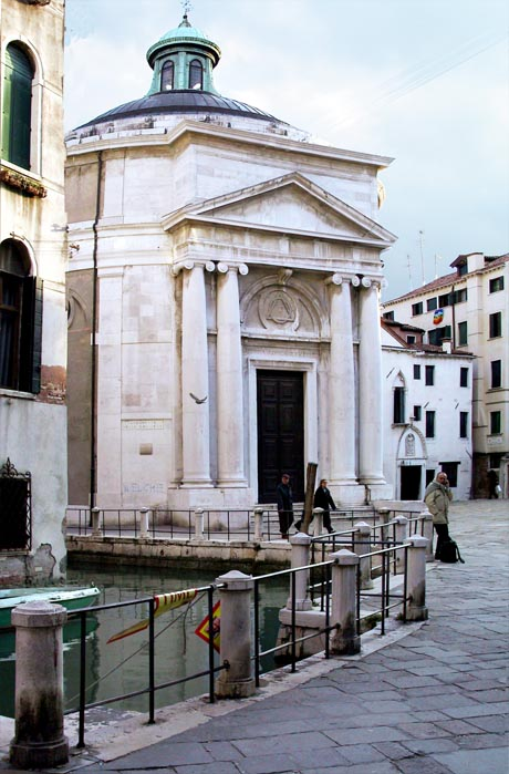 Storia di Venezia - La chiesa di Santa Maria Maddalena a Venezia, già ricostruita su espliciti assunti simbolici nel 1780