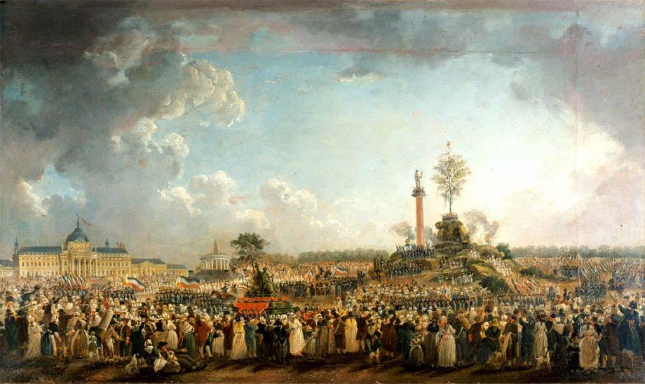 La Festa dell'Essere Supremo in Campo di Marte a Parigi 8 Giugno 1794