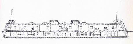 Storia di Venezia - Piani di Batteria mobile Austriaca costruita dall'Arsenale di Venezia attorno al 1850