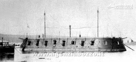 Storia di Venezia - Batteria mobile Austriaca costruita dall'Arsenale di Venezia attorno al 1850
