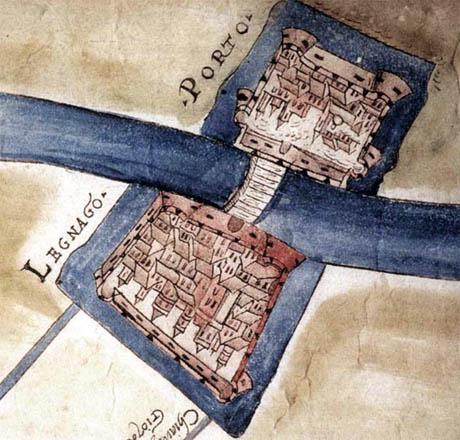 Storia di Venezia - La fortezza di Legnago in un disegno attribuibile ai primi decenni del 1500