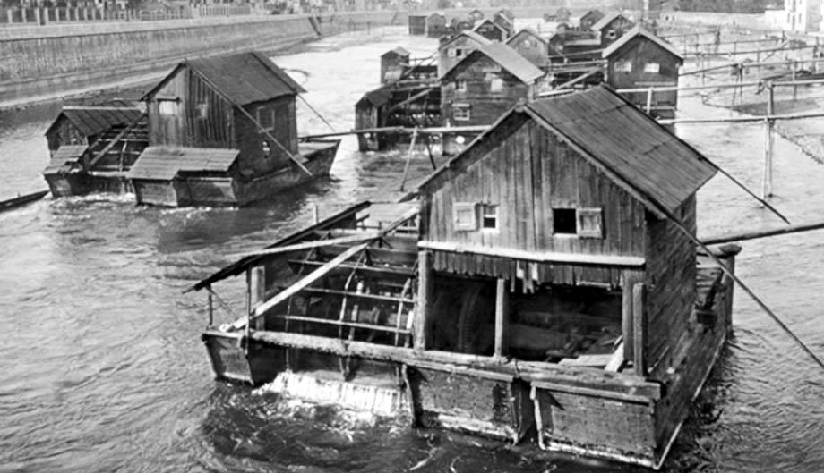 Storia di Venezia, mulini galleggianti sull'Adige