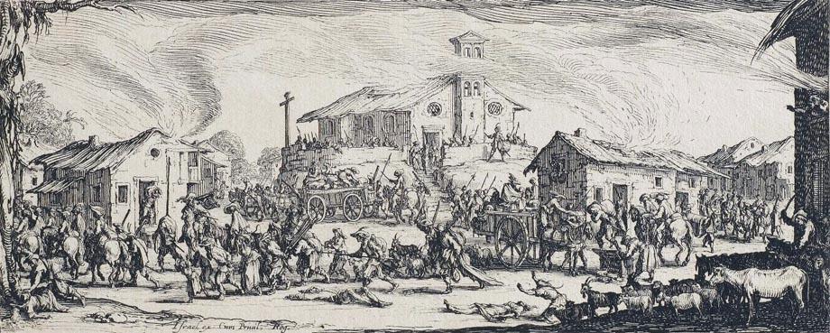 Storia di Venezia - Saccheggio e incendio di un villaggio