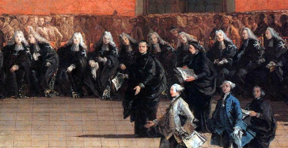 Storia di Venezia - Savj e N.H. da un quadro del Tiepolo