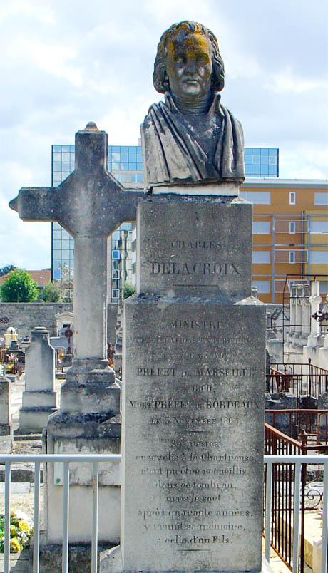 Tomba di Charles Delacroix a Bordeaux